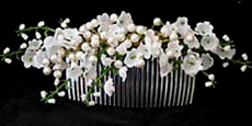 silk lily of valley comb